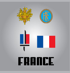 official government elements of france vector image