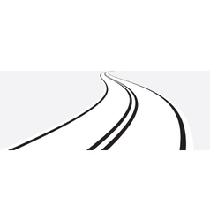 Perspective of curved road vector image