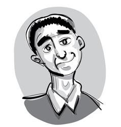 Profile sketch vector image