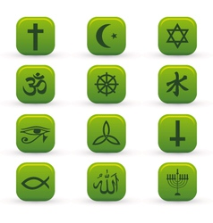 religion signs vector image vector image