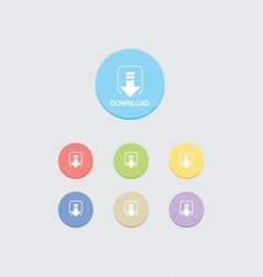 Round download button vector