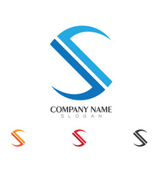 s letter logo business template vector image vector image