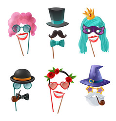 set of carnival accessories vector image
