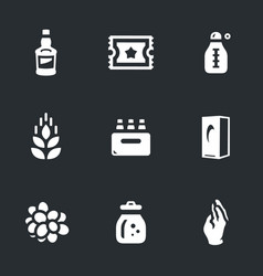 Set of moonshine boiling icons vector