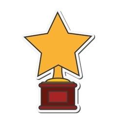 Star trophy winner cinema design vector