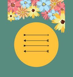 Template for postcard invitation cover vector