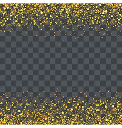 Gold glitter particles on transparency background vector