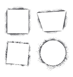 Spray texture frames set isolated on white vector