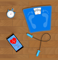 Training for weight loss vector