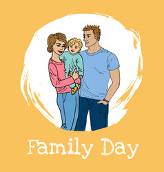 International family day vector