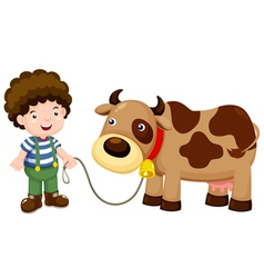Young cattle and cow vector