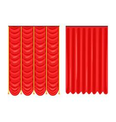 Scarlet theatre drapery vector