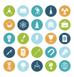 Flat design icons for education and science vector
