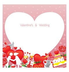 Love border frame vector