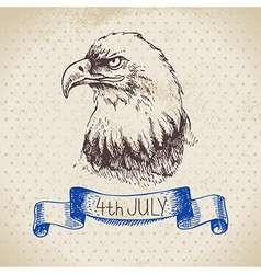 4th of July vintage background vector image vector image
