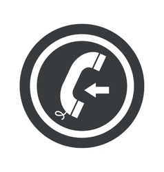 Round black incoming call sign vector