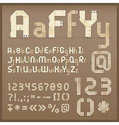 vintage letter font vector image