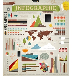Infographics icon set vector
