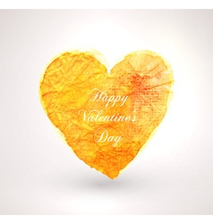 Romantic love heart card vector