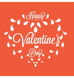 Celebration happy valentines day in orange vector