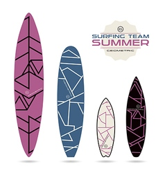 Geometric lines print for surfboards vector