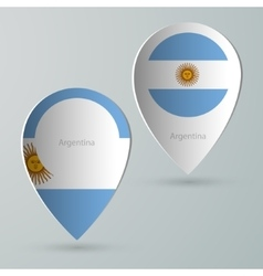Paper of map marker for maps argentina vector