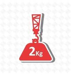 Crane lift design vector