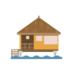 Bungalow house building vector