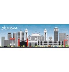 Asuncion skyline with gray buildings vector