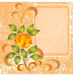 Background with rose and placard vector image vector image