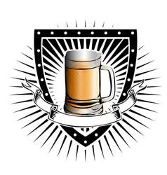 beer shield vector image vector image