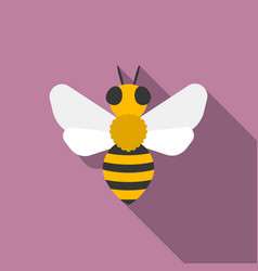 bees iconflat design with long shadow vector image vector image