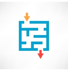Blue maze vector image