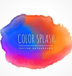 Colorful ink splash vector
