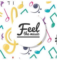Colorful musical notes concept music vector