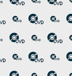 dvd icon sign Seamless pattern with geometric vector image vector image