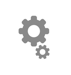 flat design style of gears icon on white vector image vector image
