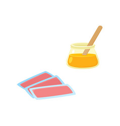 Flat hair removal tools icon set vector