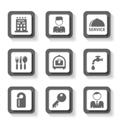 gray hotel buttons vector image