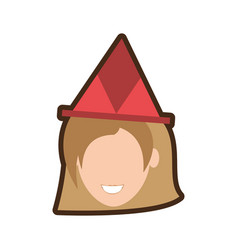 head girl hat party vector image