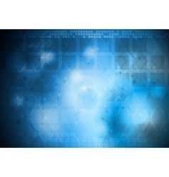 Hi-tech abstract design vector image vector image
