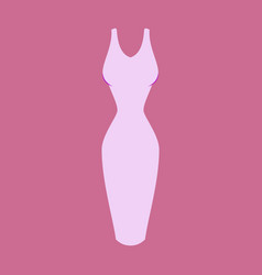 icon in flat design fashion clothes dress vector image vector image