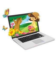 Laptop Display vector image vector image
