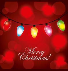 merry christmas greeting invitation card garland vector image