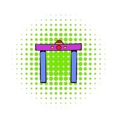 Metal detector icon comics style vector