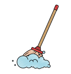Mop clean isolated icon vector