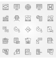 Online casino icon vector image vector image
