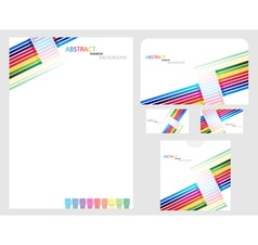 rainbow company identity template vector image vector image
