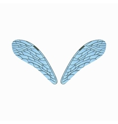 Realistic dragonfly wings icon cartoon style vector