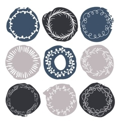 Set of 9 decorative wedding or romantic elements vector image vector image